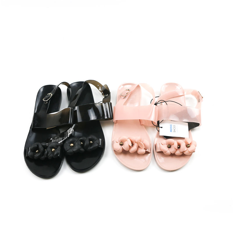 chaozhou chin New summer fashion flat beach shoes women's sandals flower shoes PVC sandals jelly sandals ladies casual shoes