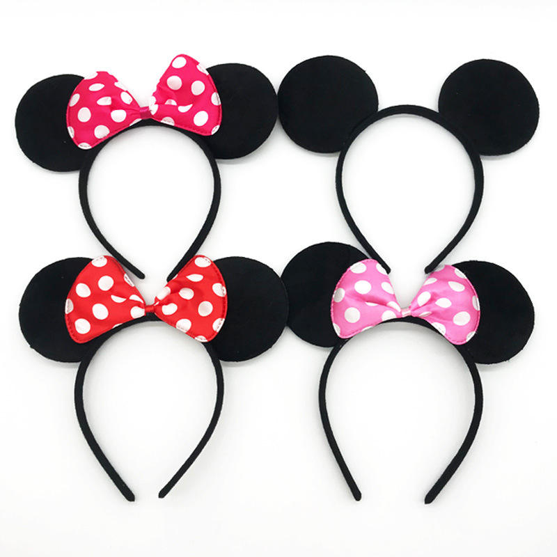Cute Mickey's ear band hair band Mickey Mouse head band Minnie bow for baby shower baby party supplier