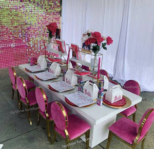 Wedding events stainless steel with velvet kid chair