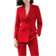 New women office lady pant suits of high quality OL blazer suit jackets with ankle length trouser red two pieces set suit