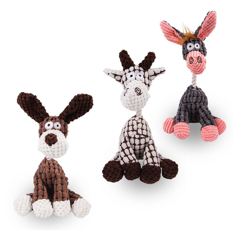 Manufacturer wholesale chew tough pet dog plush rope toys