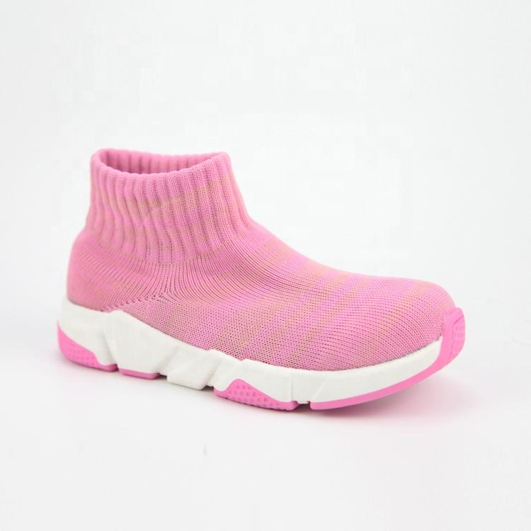 Multi Color Outdoor Breathable Soft Rubber Sole Sneaker Casual shoes Girls Children Kids Woolen Sock Shoes