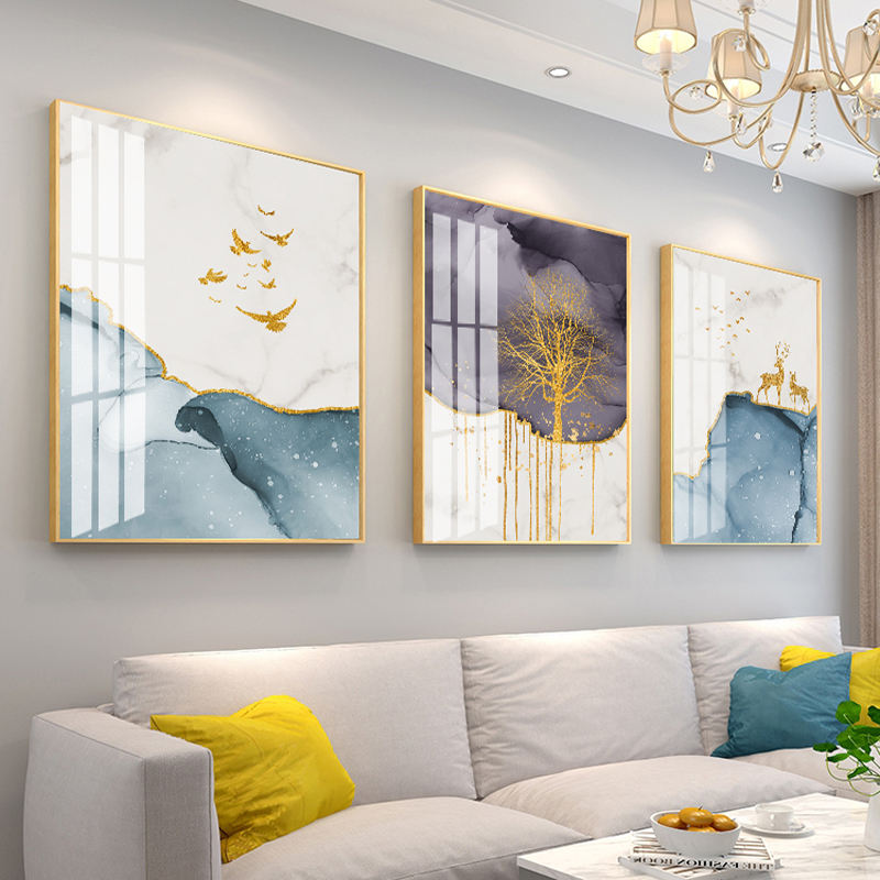 Pop Art Living Room Decoration Painting Interior Decoration Sofa Background Wall Triptych Modern Simple Hanging Painting