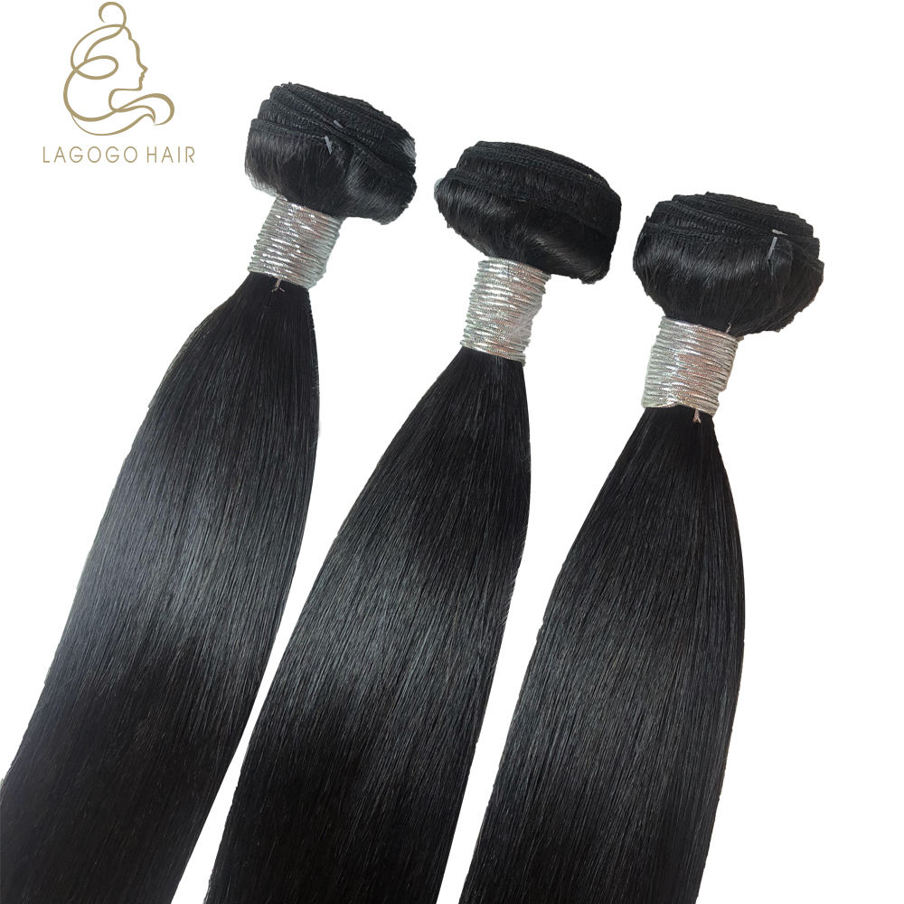 Straight raw virgin cuticle aligned hair brazilian human grade 10a unprocessed one donor wholesale