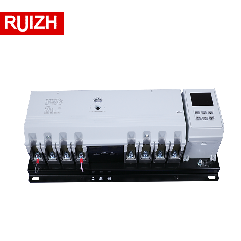 RZQ1 AC Listrik Changeover Switch <span class=keywords><strong>ATS</strong></span> 220V 400V 4P 3 Phase 63-800A ATSE Controller Automatic Transfer Switch untuk Generator