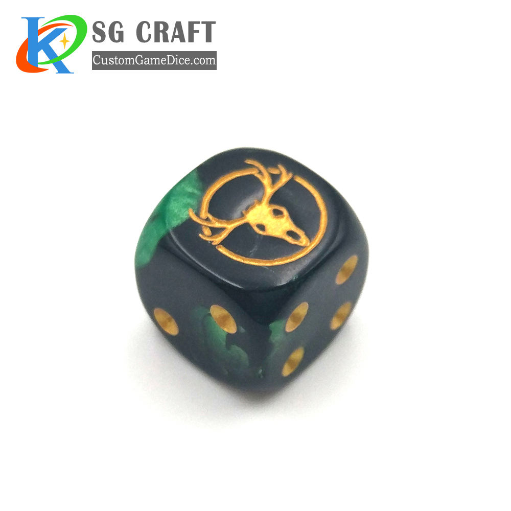 Promotional Custom Standard 6 Sided 16mm Plastic Game D6 Dice for Board Games Activity Casino Theme Party Favors Toy Gifts