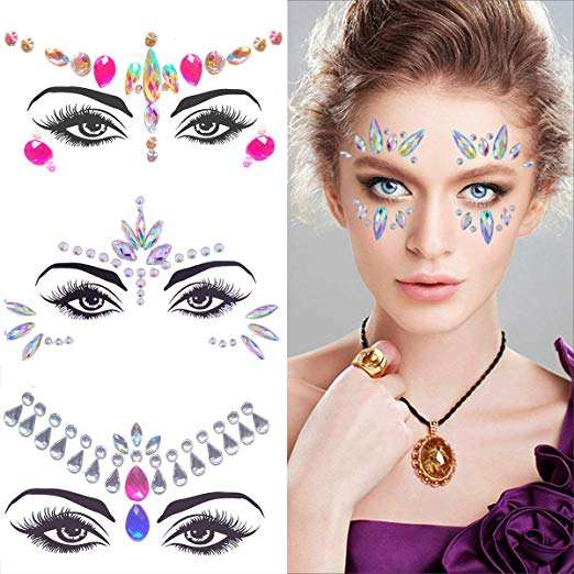 Wholesale Festival Rhinestones Face gem Jewels Stick on