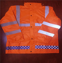high visibility traffic reflective safety  pvc raincoat set suit