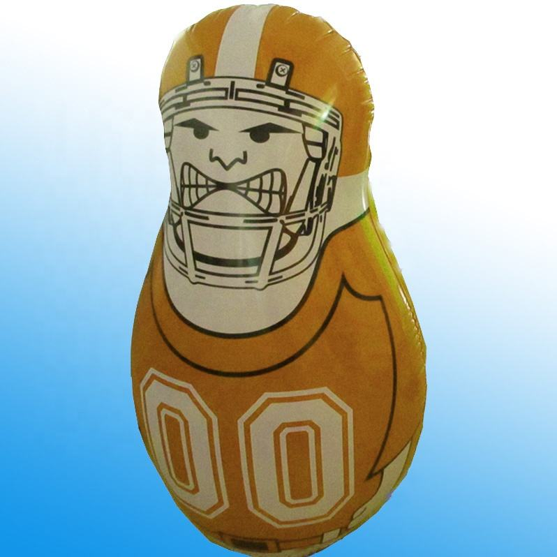 American football sports inflatable punching pole, kids inflatable punching bag