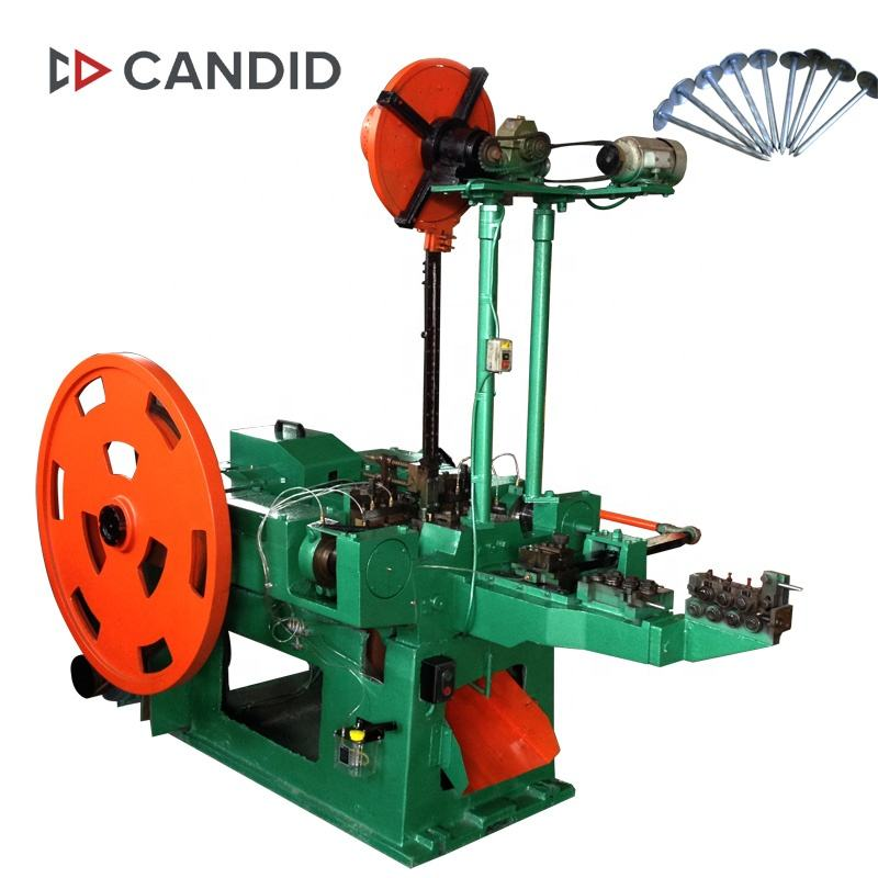 CANDID automatic artificial steel iron roofing cap nail making machine parts price in China