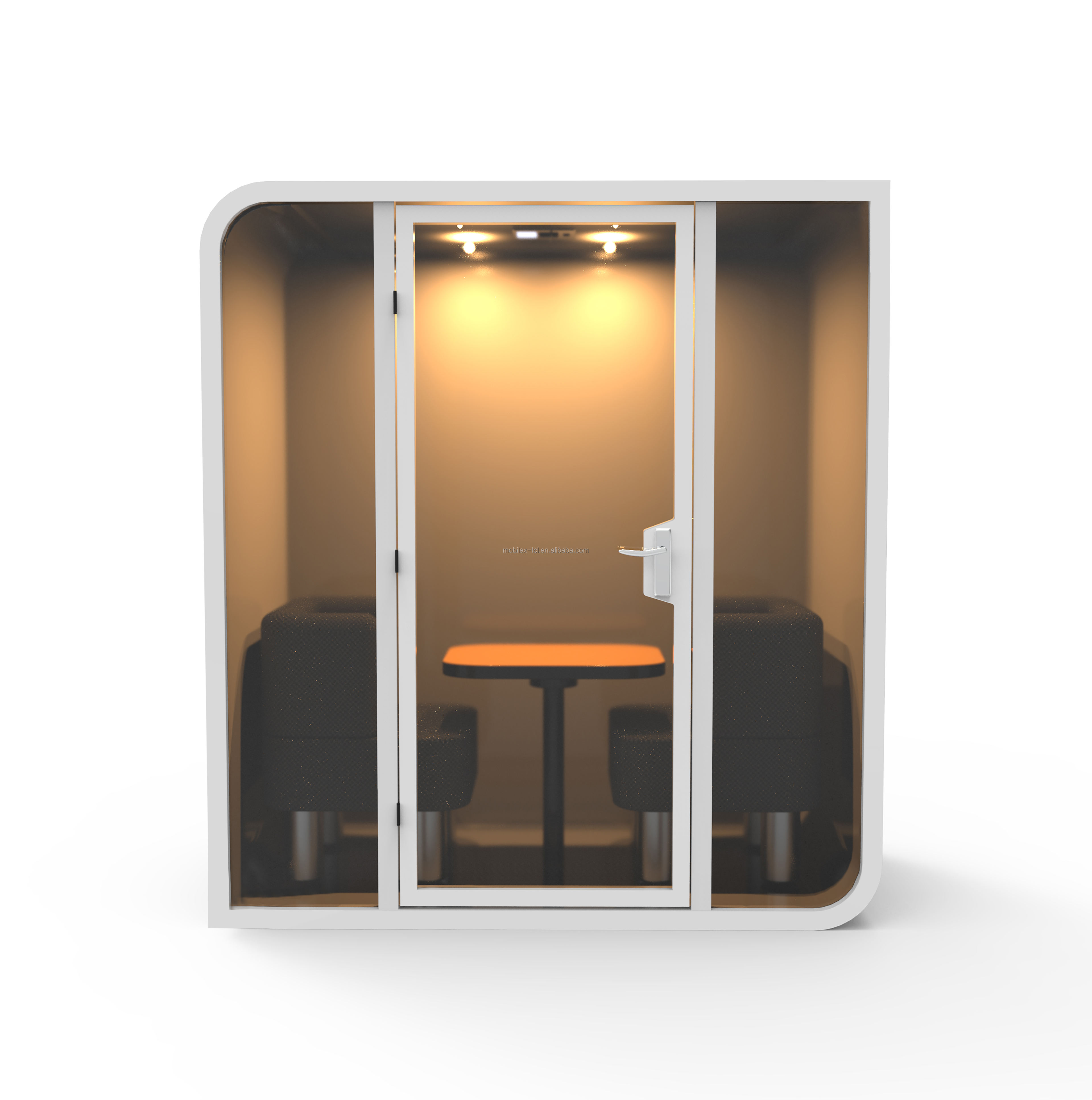 Customized office booths soundproof office phone booth pod for two people