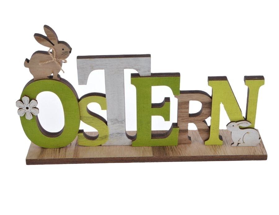 2021 new design Wooden spring sign with chick letter, Easter tabletop decoration