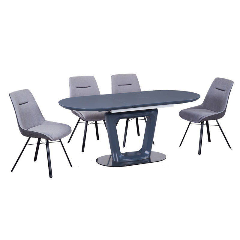 Home furniture Modern Rectangle MDF dinning room 4 seater dining table set