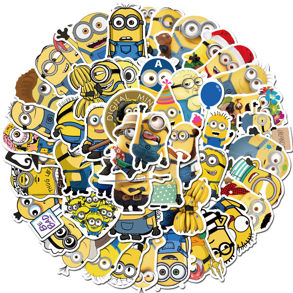 Die Cut Sticker Scrapbook Cartoon Paper Minions Led Bottle Lipgloss Vinyl Adhesive Kitchen Stickers Custom