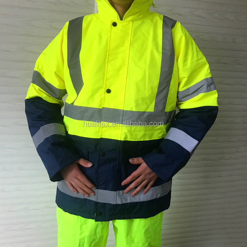 Hot sale HI Vis waterproof/windproof Reflective Jacket Yellow