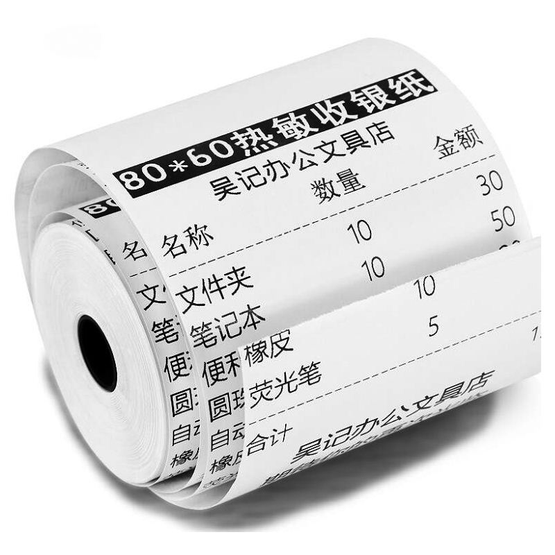 High quality ECO BPA Free 80mm Thermal Paper Roll for ATM machine