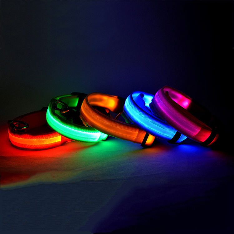 LED dog collar usb rechargeable led dog leashes and collars