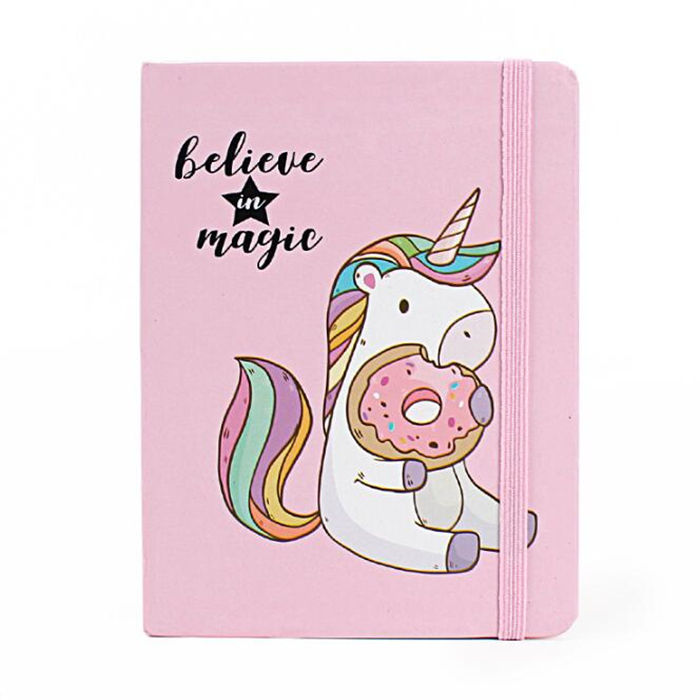 Custom Print A5 A6 Diary Unicorn Note book Stationery Items A5 Hard Cover Recycled Paper Notebook
