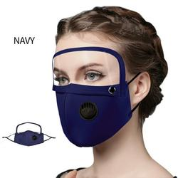 Unisex Earloop Face Cover  Protective with Detachable Eye Cover Dustproof Windproof Sunscreen Breathing Cover  with Breathing