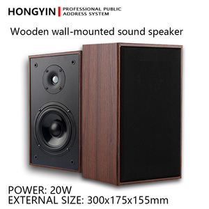 Public Address System 15-20W 5 inch Indoor wooden wall mounted Speaker