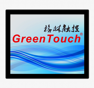 Temperament glas schutz wasserdicht touch screen monitor 17