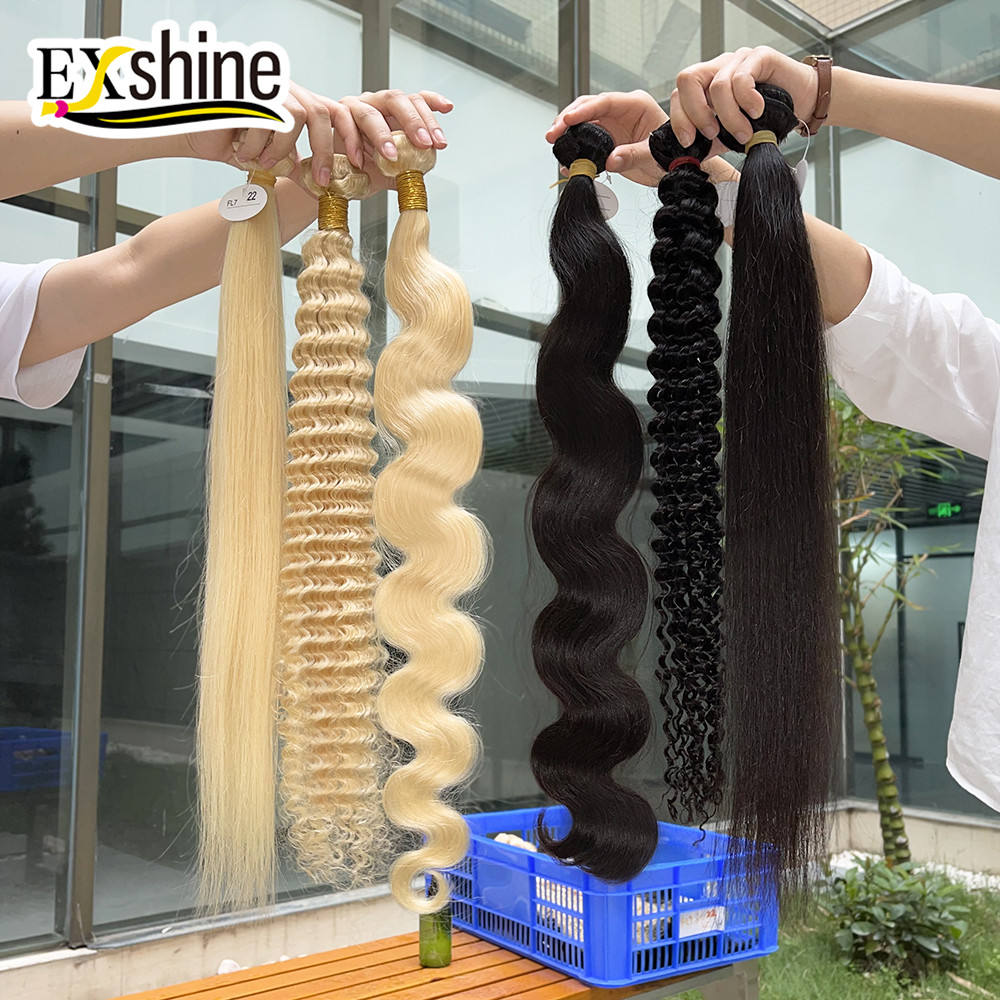 YSE 100% Raw Indian Hair Bundles, 12A Wholesale Remy Human Hair Extensions,Unprocessed Curly Bulk Virgin Indian Hair Vendors