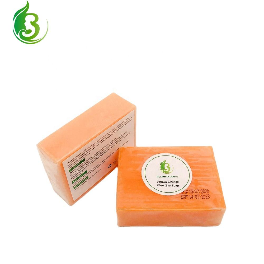 Private Label Natural Papaya Handmade Whitening Soap Skin Lightening Kojic Acid Soap