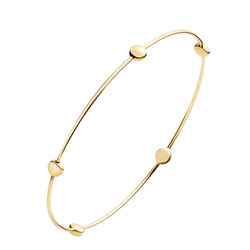 Five Beads Gold Plated 925 Sterling Silver Clasp Bracelets