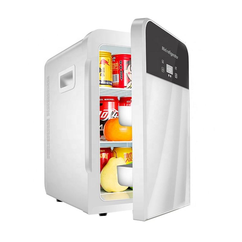 High Quality Mini Fridge with Glass Door 20L Skincare Fridge for Woman