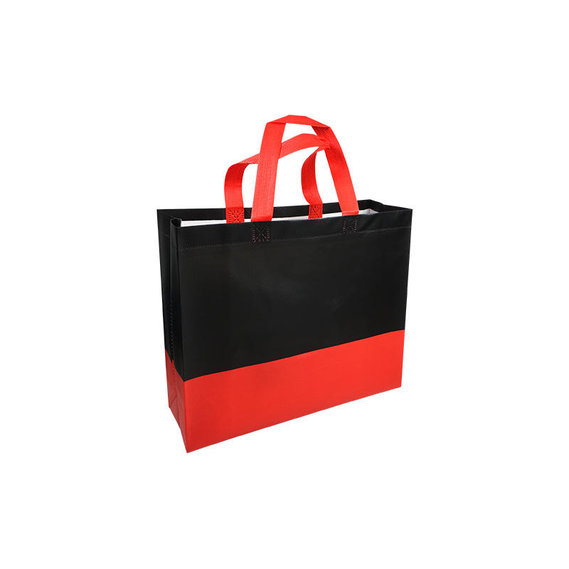 Tnt 110gsm Cheap & T-shirt Bags Stocklot In Rajkot Tote Non Woven With Hard Bottom Insert laminated Shopping Bag