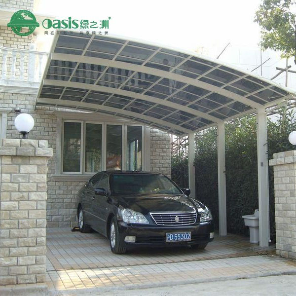 Strong aluminium Portable carport with PC roof