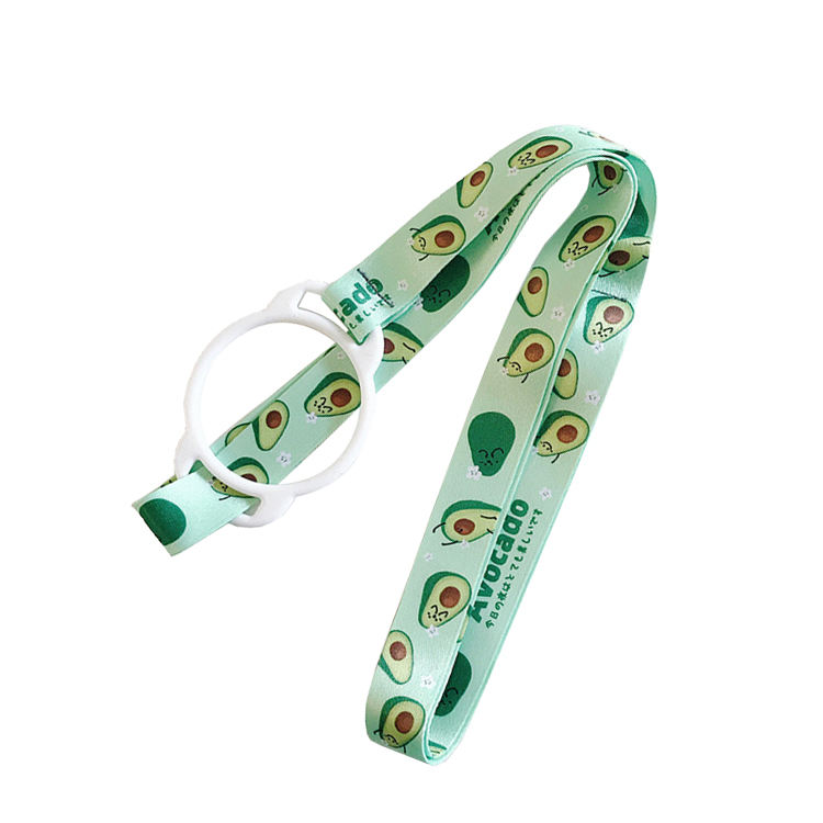Polyester Custom Printed Water Bottle Holder Lanyard Sublimation Lanyard