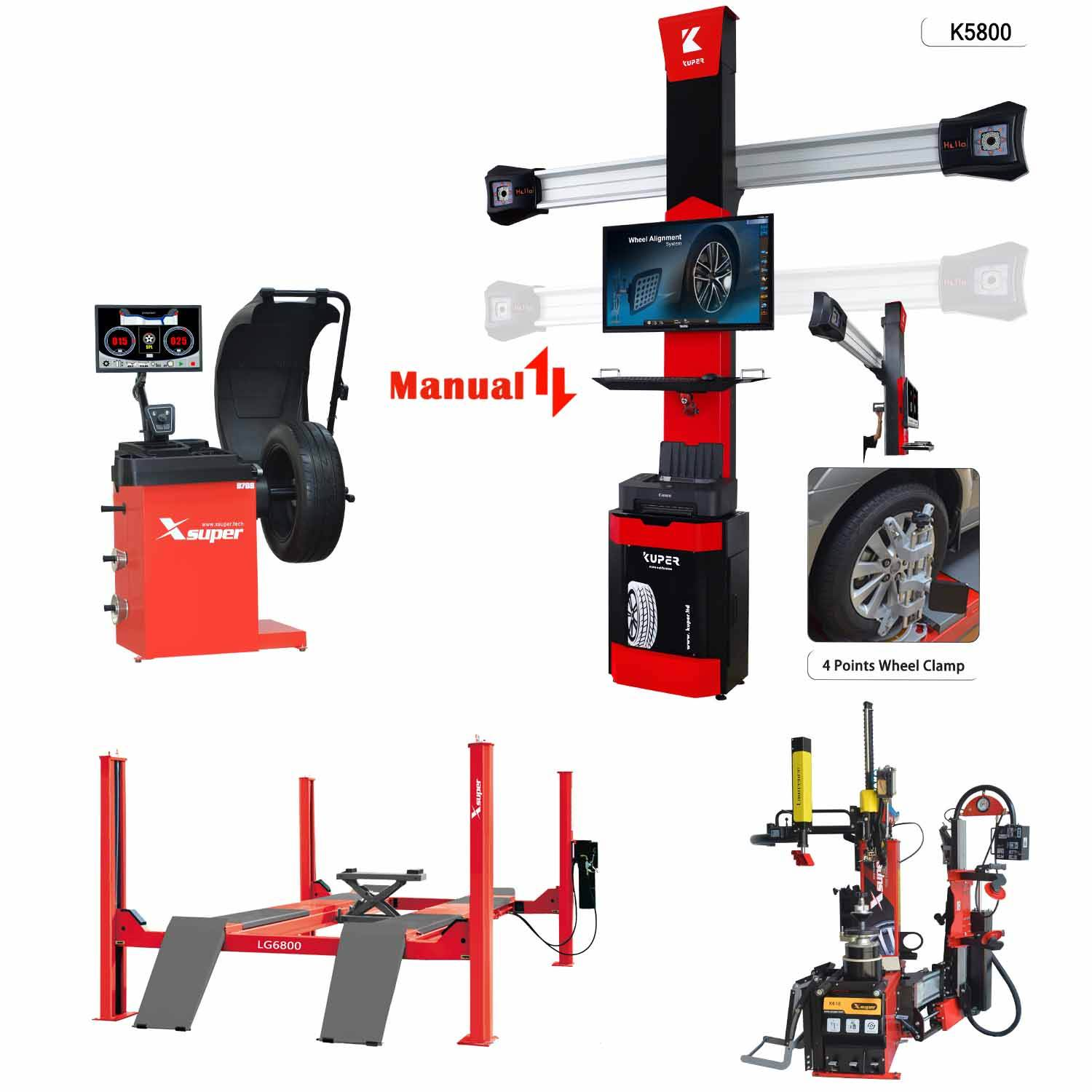High Quality Auto Maintenance Match of 3D Wheel Alignment