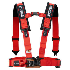 4 Point Red Racing Seat Belt Harness Với Vai Pad