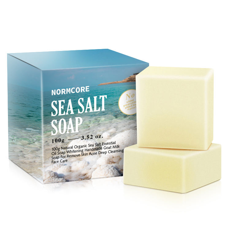 OEM Custom Private Label Wholesale Luxury Natural Remove Skin Acne Deep Cleansing Organic Sea Salt Bath Face Body Toilet Soap