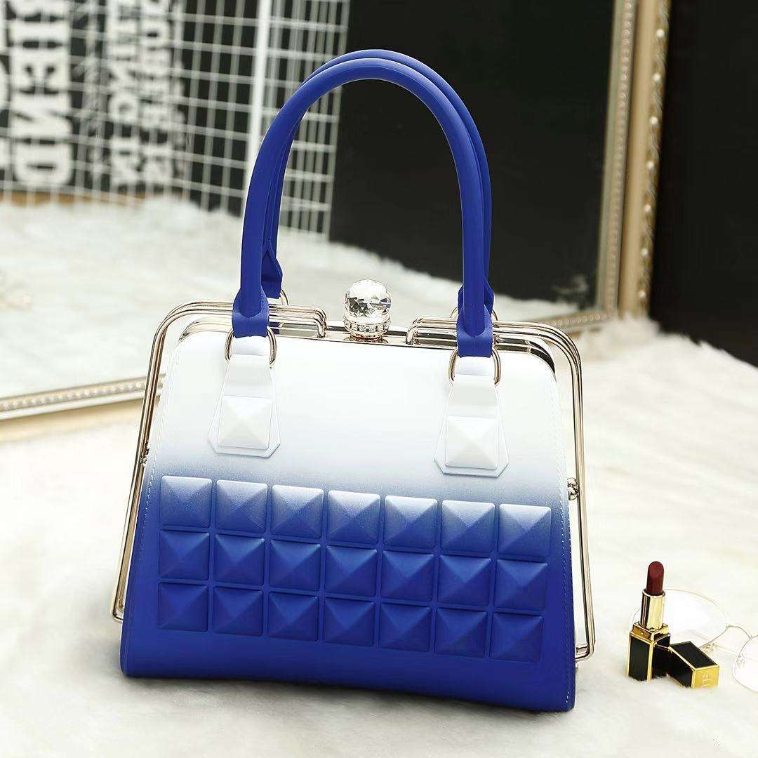 gradient color jelly handbag designer bag for women fashion women's bag
