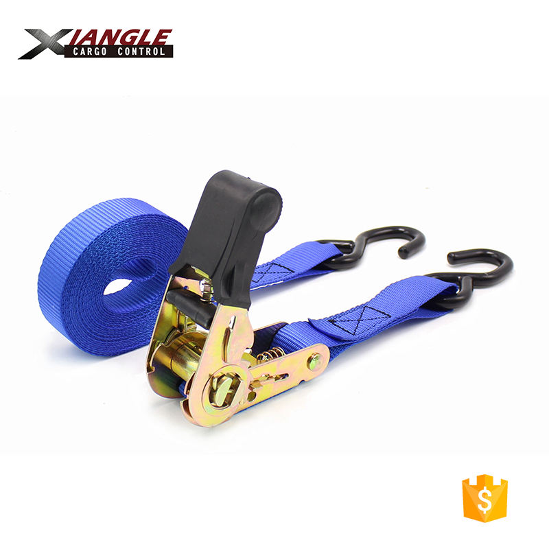 1500Lbs wholesale belt polyester ratchet lashing moving straps rubber tie down loop strap