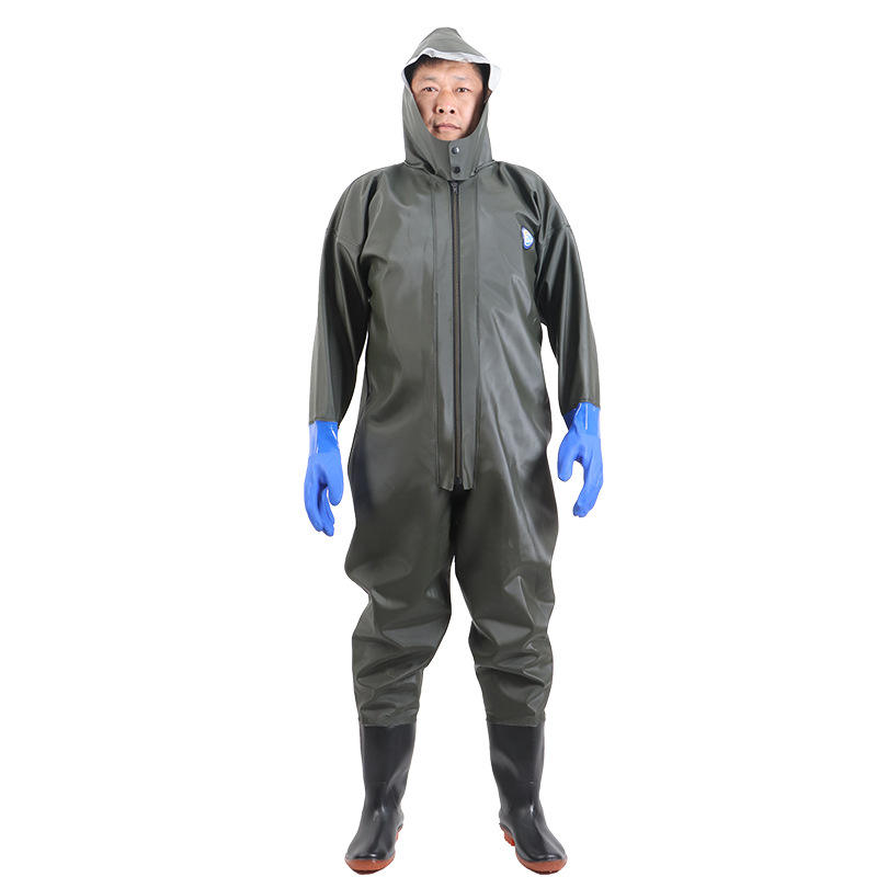 waterproof breathable fishing rubber fishing suit full body suit