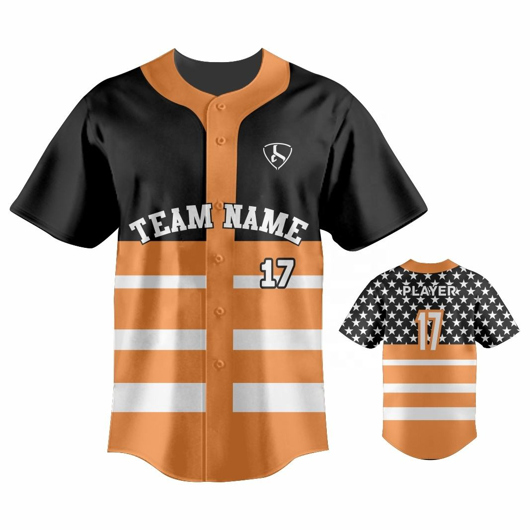 Men's Basketball Jerseys Custom Designs Button Down Short Sleeve Baseball Shirt