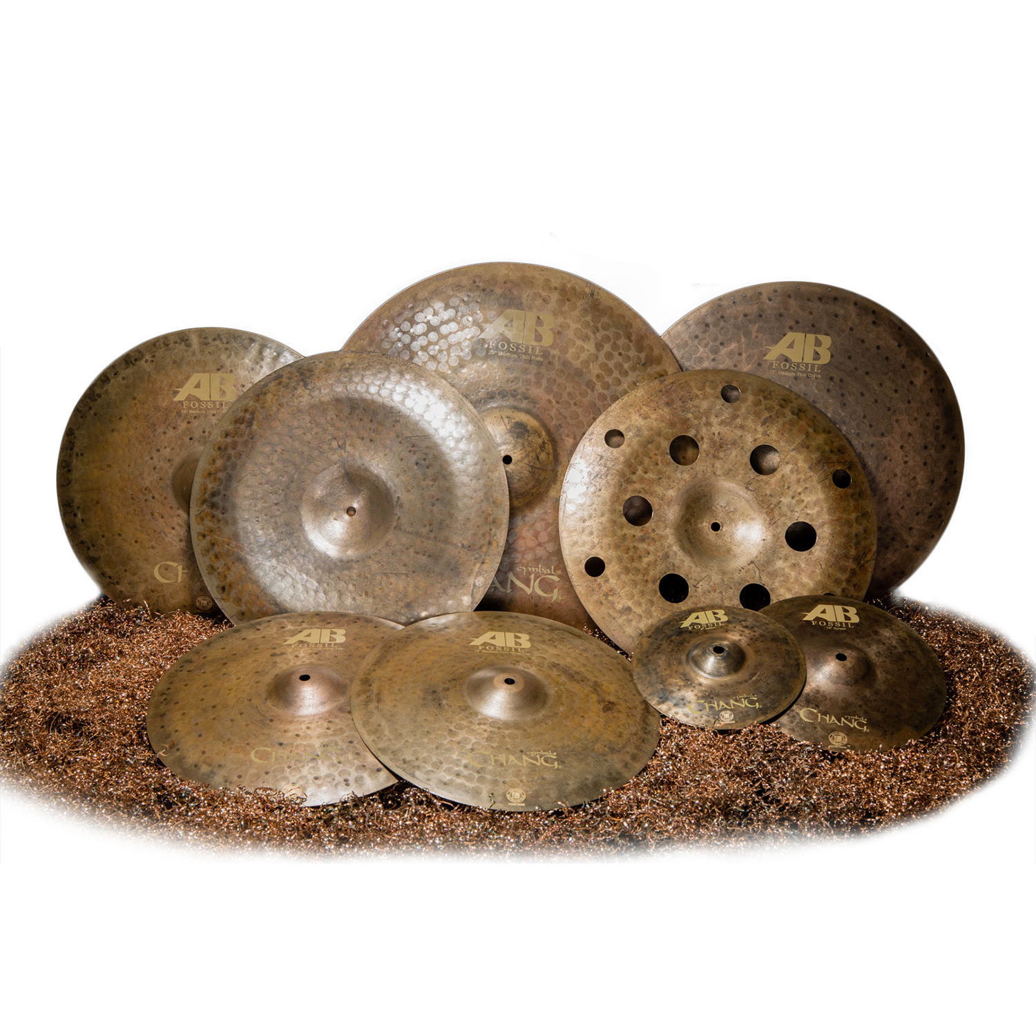 Chang Cymbals AB Fossil Cymbals Pack Drum Cymbals Simbal