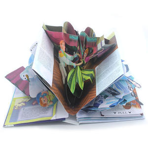 Custom Hardcover Children Cartoon Pop Up 3D Book Printing Services