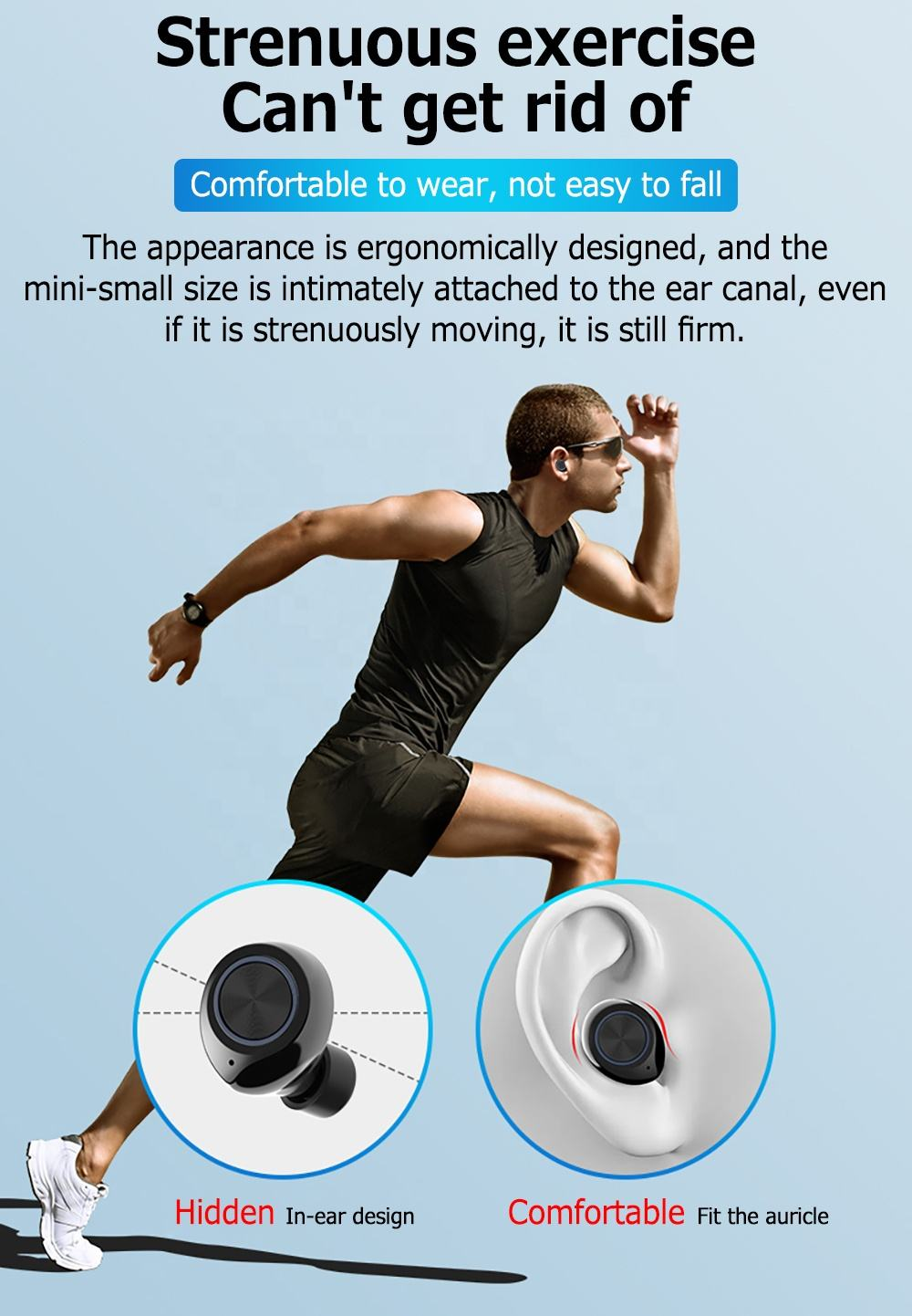 Waterproof [ Earphones ] Design Earphones Enle Private Amazon Ebay Hot Selling Sports Mini Wireless Bluetooth 5.0 Earbuds Earphones Tw60 Macaron Pods TWS
