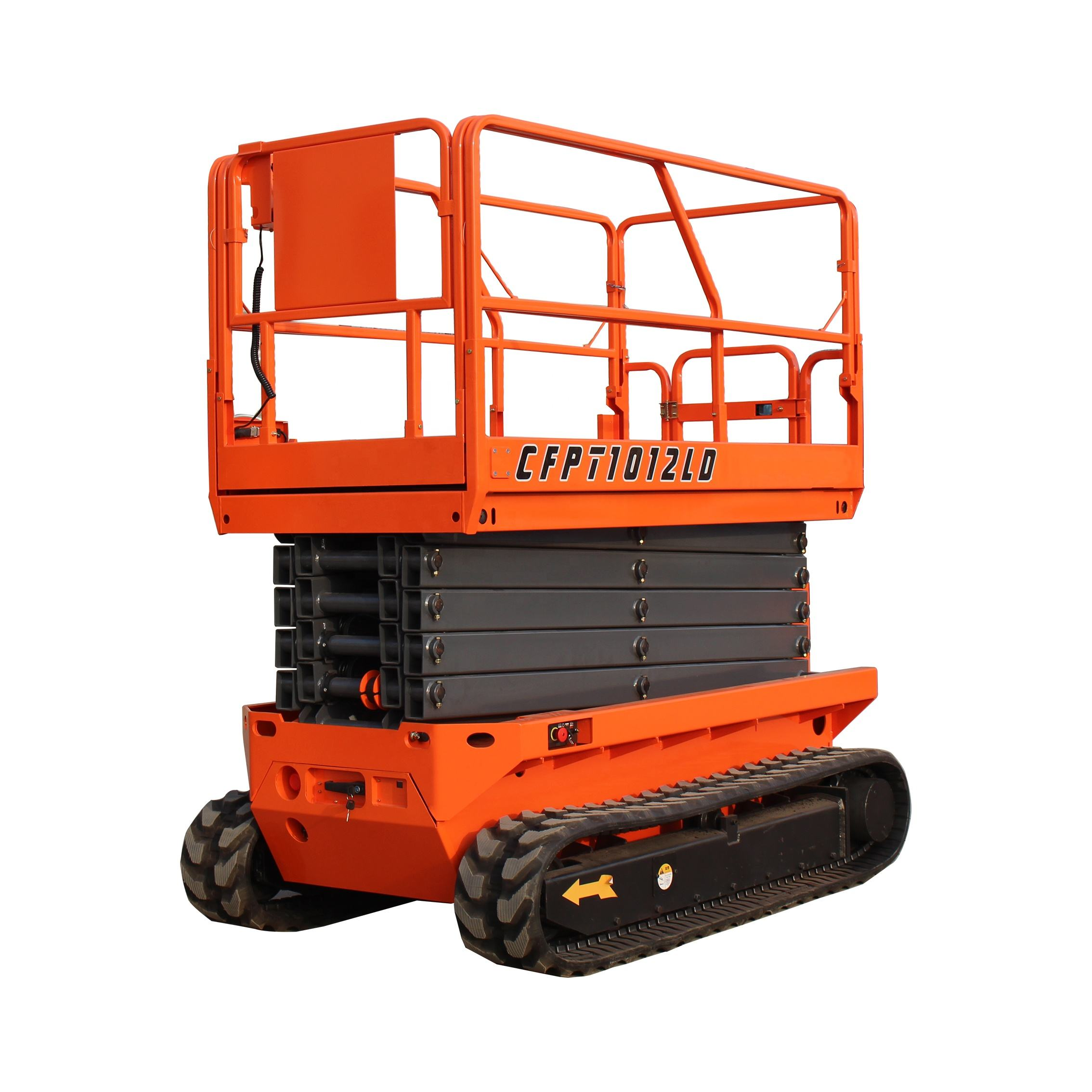 2020 NEW stock 6m 8m 10m 12m 14m CE approved hydraulic lifting platform/tracked scissor lift