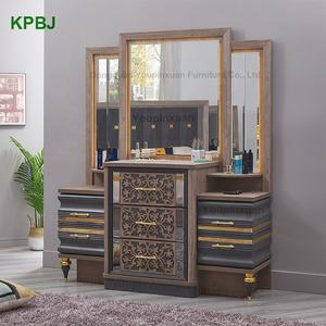 Modern Latest Classical Style King Size Bedroom Furniture Wooden MDF Bedroom Sets