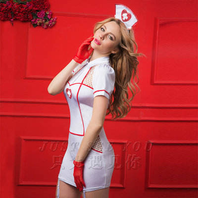 2019 new sexy uniform hollowed-out nurses wear sexy uniforms for nightclub shows