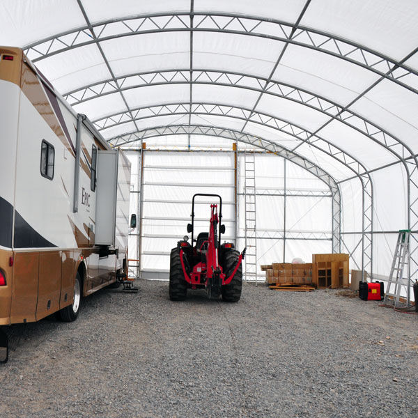 outdoor building warehouse fabric steel building for hay storage