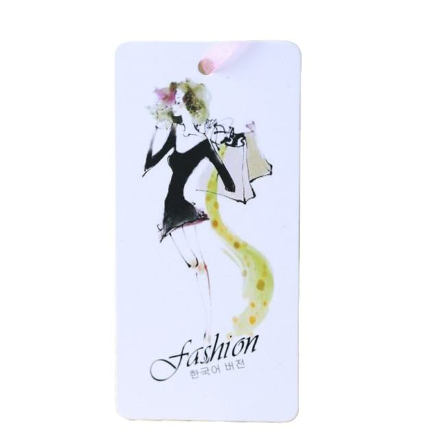 New style cute paper hang tag,fashion hangtag wholesale