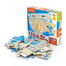 floor jigsaw USA map custom paper puzzle games for kids