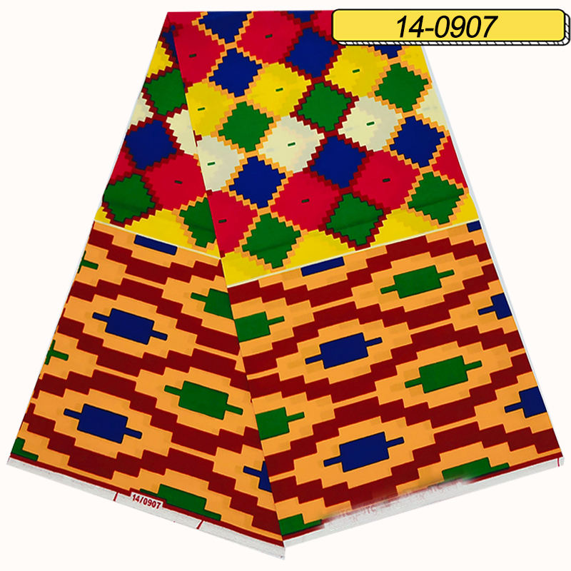 Ghana kente 100% cotton Africa ankara fabrics wax prints for cloth