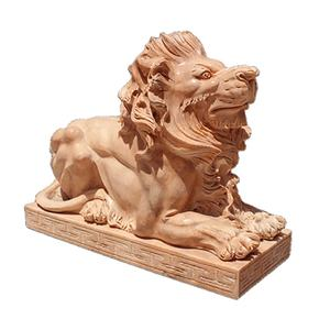 Marble Lion Sculpture Outdoor Animal Big White stone Marble Lion Statues For Sale